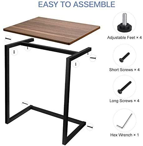 41p+sEmWgkL. AC  - Homemaxs Sofa Side End Table C Table Multiple Stand 26-Inch for Small Space