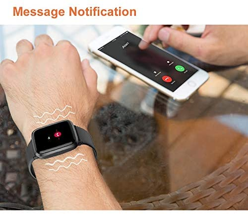 41uCnenYv0L. AC  - YAMAY Smart Watch, Watches for Men Women Fitness Tracker Blood Pressure Monitor Blood Oxygen Meter Heart Rate Monitor IP68 Waterproof, Smartwatch Compatible with iPhone Samsung Android Phones (Black)
