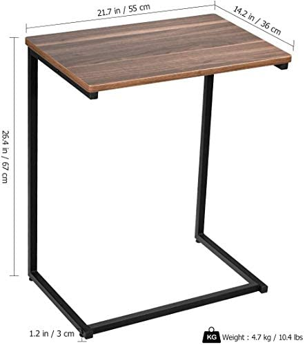 41vgybO7VyL. AC  - Homemaxs Sofa Side End Table C Table Multiple Stand 26-Inch for Small Space