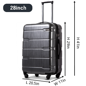 """4b3bb5b5 66ba 4148 a569 e58b1101e1c9. CR0,0,300,300 PT0 SX300   - Coolife Luggage Expandable(only 28"""") Suitcase PC+ABS Spinner Built-In TSA lock 20in 24in 28in Carry on"""