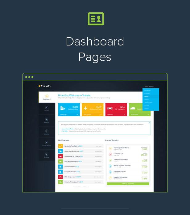 5 intro dashboard - Travelo - Travel/Tour Booking Responsive WordPress Theme