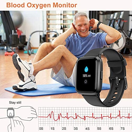 51+2QqRPKDL. AC  - YAMAY Smart Watch, Watches for Men Women Fitness Tracker Blood Pressure Monitor Blood Oxygen Meter Heart Rate Monitor IP68 Waterproof, Smartwatch Compatible with iPhone Samsung Android Phones (Black)