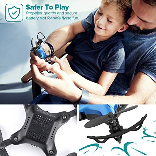 51+jKduYitL. AC  - DROCON Foldable Mini Drone for Kids or Adults, Best Gift Portable Pocket Quadcopter with Altitude Hold 3D Flips and Headless Mode Easy to Fly, Small Durable RC Helicopter for Beginners