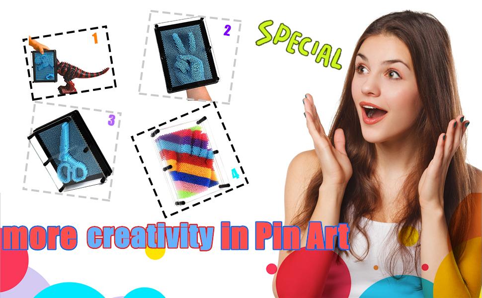 51282473 eda6 4329 8644 a3db7ac1dd71.  CR0,0,970,600 PT0 SX970 V1    - ENJSD 3D Pin Art Toy, Unique Plastic Pin Art Board for Kids,Inspire Imagination & Challenge Sense, Innovative Boundless Creativity for Children (Multicolor)