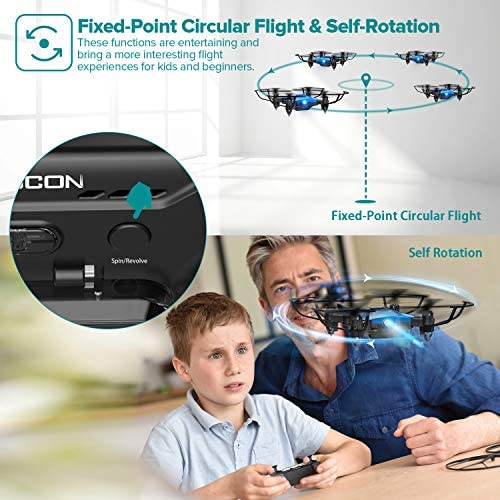 51FZaXvBpLL. AC  - DROCON Foldable Mini Drone for Kids or Adults, Best Gift Portable Pocket Quadcopter with Altitude Hold 3D Flips and Headless Mode Easy to Fly, Small Durable RC Helicopter for Beginners