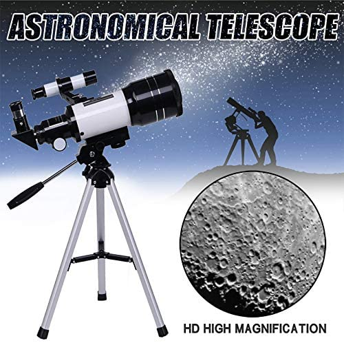 51Gx w27cDL. AC  - Telescope for Kids &Adults &Beginners,70mm Aperture 300mm AZ Mount, Fully Multi-Coated Optics, Portable Astronomy Refractor Telescope with an Adjustable Tripod, A Phone Adapter
