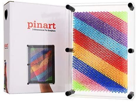 51IMJRyRf7L. AC  - ENJSD 3D Pin Art Toy, Unique Plastic Pin Art Board for Kids,Inspire Imagination & Challenge Sense, Innovative Boundless Creativity for Children (Multicolor)