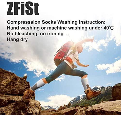 51Ia51+Q6RL. AC  - ZFiSt 3Pair Medical Sport Compression Socks Men,20-30mmhg Run Nurse Socks for Edema Diabetic Varicose Veins