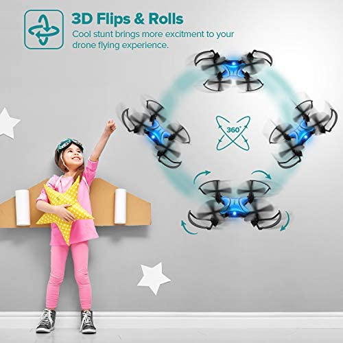51JoWl4FmiL. AC  - DROCON Foldable Mini Drone for Kids or Adults, Best Gift Portable Pocket Quadcopter with Altitude Hold 3D Flips and Headless Mode Easy to Fly, Small Durable RC Helicopter for Beginners