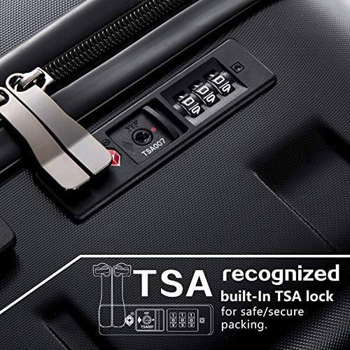 """51PS9QSTSIL. AC  - Coolife Luggage Expandable(only 28"""") Suitcase PC+ABS Spinner Built-In TSA lock 20in 24in 28in Carry on"""