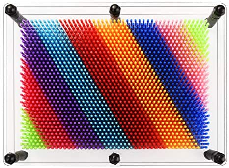 51ZMMyaRt2L. AC  - ENJSD 3D Pin Art Toy, Unique Plastic Pin Art Board for Kids,Inspire Imagination & Challenge Sense, Innovative Boundless Creativity for Children (Multicolor)
