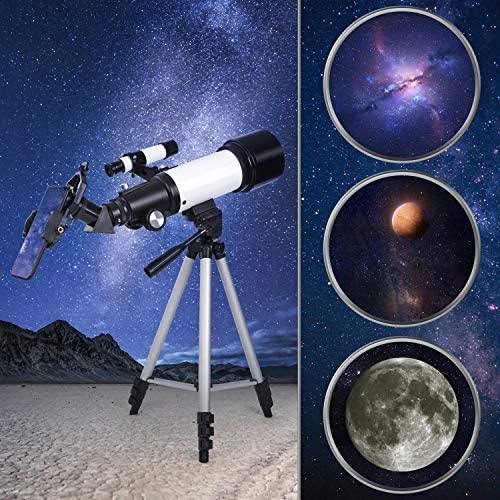 51aIPcKDyuL. AC  - Deesoo Telescopes for Adults Kids - Portable Telescope FMC Lens with Adjustable Tripod Backpack Phone Holder for Moon Viewing - 70mm Aperture 400mm Refractor Telescope for Beginners
