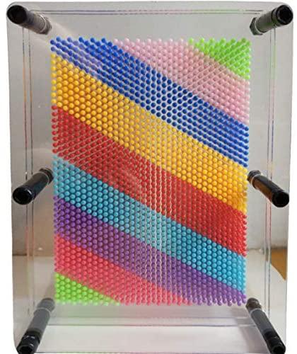 51cCwpcb84L. AC  - ENJSD 3D Pin Art Toy, Unique Plastic Pin Art Board for Kids,Inspire Imagination & Challenge Sense, Innovative Boundless Creativity for Children (Multicolor)