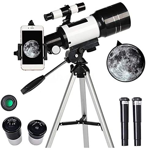 51cfXYxqbcL. AC  - Telescope for Kids &Adults &Beginners,70mm Aperture 300mm AZ Mount, Fully Multi-Coated Optics, Portable Astronomy Refractor Telescope with an Adjustable Tripod, A Phone Adapter