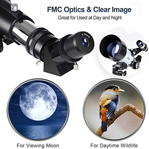 51dIEUA45yL. AC  - Deesoo Telescopes for Adults Kids - Portable Telescope FMC Lens with Adjustable Tripod Backpack Phone Holder for Moon Viewing - 70mm Aperture 400mm Refractor Telescope for Beginners