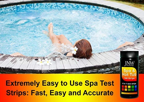 51eJ1bWqe9L. AC  - JNW Direct Spa Test Strips for Hot Tubs - 100 Count, Best Kit for Accurate Water Quality Testing at Home, 6 in 1 Hot Tub Testing Strips