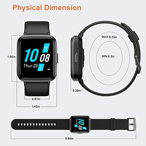 51ekPW7XF8L. AC  - YAMAY Smart Watch, Watches for Men Women Fitness Tracker Blood Pressure Monitor Blood Oxygen Meter Heart Rate Monitor IP68 Waterproof, Smartwatch Compatible with iPhone Samsung Android Phones (Black)