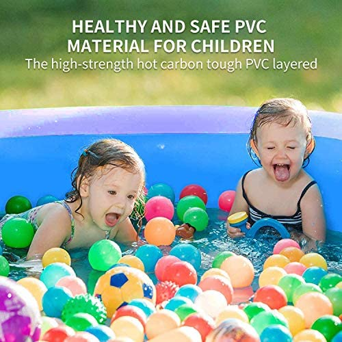 51hS9o77YNL. AC  - EPROSMIN Inflatable Swimming Pool for Adults - 10 Ft x 30 in Large Inflatable Pool with Air Pump for Kids Suitable for Backyard Garden Patio Summer Water Play Party Outdoor