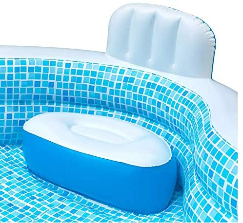 51iUI9YnJJL. AC  - Members Mark Elegant Family Pool 10 Feet Long 2 Inflatable Seats with Backrests. New Version