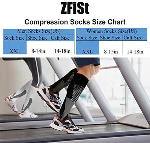 51o liFikHL. AC  - ZFiSt 3Pair Medical Sport Compression Socks Men,20-30mmhg Run Nurse Socks for Edema Diabetic Varicose Veins