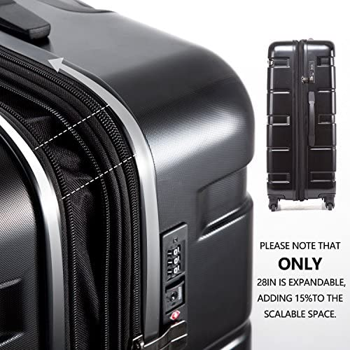 """51ow1bAPPNL. AC  - Coolife Luggage Expandable(only 28"""") Suitcase PC+ABS Spinner Built-In TSA lock 20in 24in 28in Carry on"""