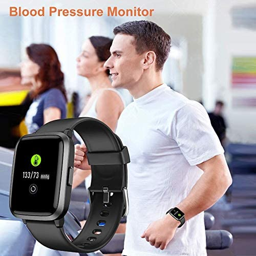 51pYb1nQCvL. AC  - YAMAY Smart Watch, Watches for Men Women Fitness Tracker Blood Pressure Monitor Blood Oxygen Meter Heart Rate Monitor IP68 Waterproof, Smartwatch Compatible with iPhone Samsung Android Phones (Black)