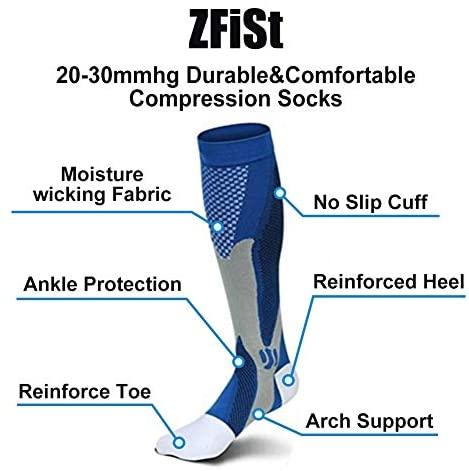 51qNirmL8NL. AC  - ZFiSt 3Pair Medical Sport Compression Socks Men,20-30mmhg Run Nurse Socks for Edema Diabetic Varicose Veins