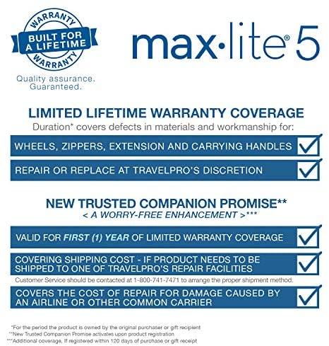 51r1U8KsjjL. AC  - Travelpro Maxlite 5-Softside Lightweight Expandable Upright Luggage, Black, Carry-On 22-Inch