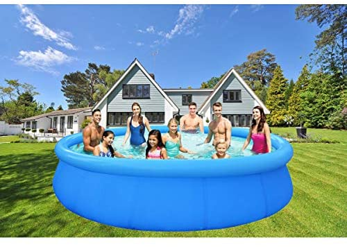 51vv1XdRtsL. AC  - EPROSMIN Inflatable Swimming Pool for Adults - 10 Ft x 30 in Large Inflatable Pool with Air Pump for Kids Suitable for Backyard Garden Patio Summer Water Play Party Outdoor