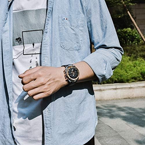 51xn9dRIfTL. AC  - BENYAR Men Watch Quartz Chronograph Date 3ATM Waterproof Watches Business Sport Design Leather Strap Wrist Watch for Men Father
