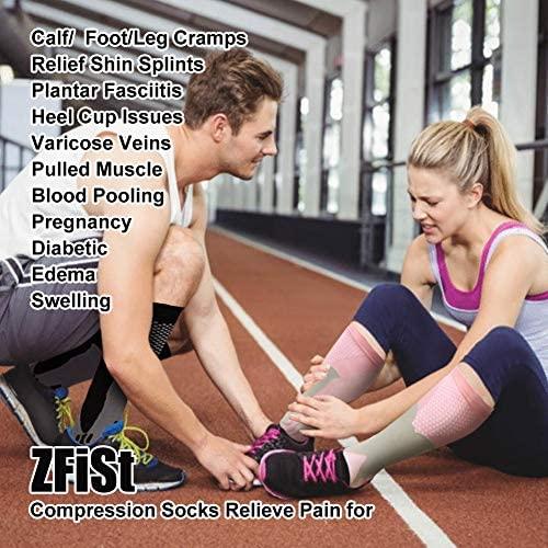 51zb+K10ddL. AC  - ZFiSt 3Pair Medical Sport Compression Socks Men,20-30mmhg Run Nurse Socks for Edema Diabetic Varicose Veins