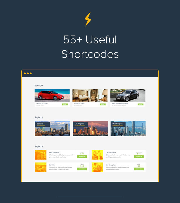 6 intro shortcodes - Travelo - Travel/Tour Booking Responsive WordPress Theme