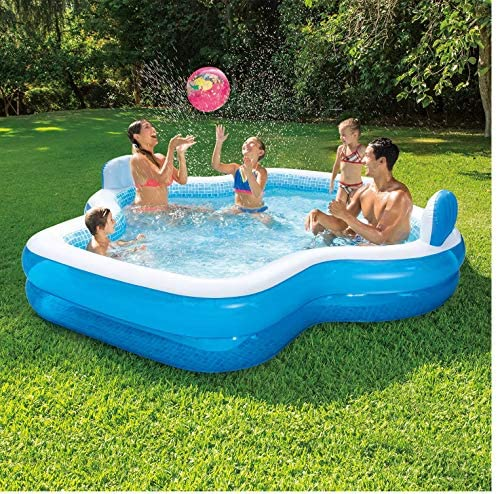 61 IjNJ11NL. AC  - Members Mark Elegant Family Pool 10 Feet Long 2 Inflatable Seats with Backrests. New Version