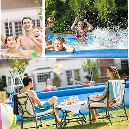 61L4wev9uOL. AC  - EPROSMIN Inflatable Swimming Pool for Adults - 10 Ft x 30 in Large Inflatable Pool with Air Pump for Kids Suitable for Backyard Garden Patio Summer Water Play Party Outdoor