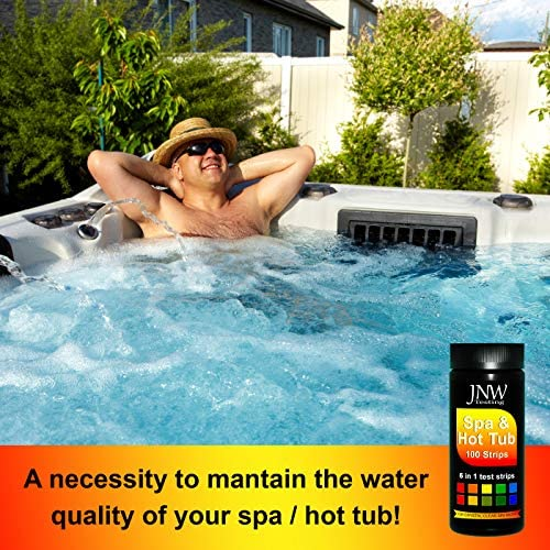61dV7lF6M7L. AC  - JNW Direct Spa Test Strips for Hot Tubs - 100 Count, Best Kit for Accurate Water Quality Testing at Home, 6 in 1 Hot Tub Testing Strips