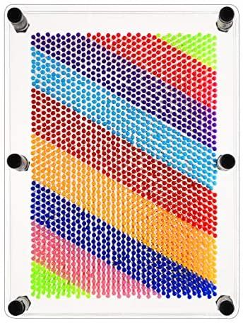 61xorPz483L. AC  - ENJSD 3D Pin Art Toy, Unique Plastic Pin Art Board for Kids,Inspire Imagination & Challenge Sense, Innovative Boundless Creativity for Children (Multicolor)