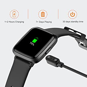 69533c9f 083d 4f90 9f95 6f5c9df8e529.  CR0,0,1000,1000 PT0 SX300 V1    - YAMAY Smart Watch, Watches for Men Women Fitness Tracker Blood Pressure Monitor Blood Oxygen Meter Heart Rate Monitor IP68 Waterproof, Smartwatch Compatible with iPhone Samsung Android Phones (Black)