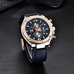 888823e5 91f1 4c1f a4f2 ce997227ad9d.  CR0,0,1333,1333 PT0 SX300 V1    - BENYAR Men Watch Quartz Chronograph Date 3ATM Waterproof Watches Business Sport Design Leather Strap Wrist Watch for Men Father