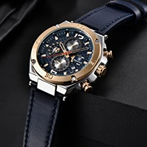 8c0b73f1 a1b4 462c 9369 791e8483f4c5.  CR0,0,1333,1333 PT0 SX300 V1    - BENYAR Men Watch Quartz Chronograph Date 3ATM Waterproof Watches Business Sport Design Leather Strap Wrist Watch for Men Father