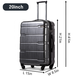 """96404d1a 4cf4 4bce 84f9 f7775b166d72. CR0,0,300,300 PT0 SX300   - Coolife Luggage Expandable(only 28"""") Suitcase PC+ABS Spinner Built-In TSA lock 20in 24in 28in Carry on"""
