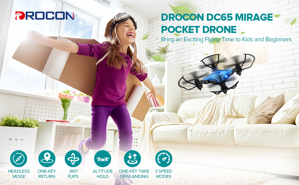 a2529692 be61 4602 925d 57dd61b8c10d.  CR0,0,970,600 PT0 SX970 V1    - DROCON Foldable Mini Drone for Kids or Adults, Best Gift Portable Pocket Quadcopter with Altitude Hold 3D Flips and Headless Mode Easy to Fly, Small Durable RC Helicopter for Beginners