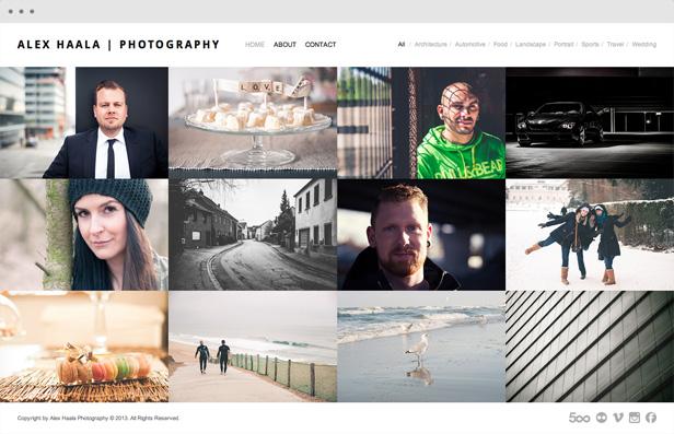 alexhaala - Heat - Responsive Photography WordPress Theme