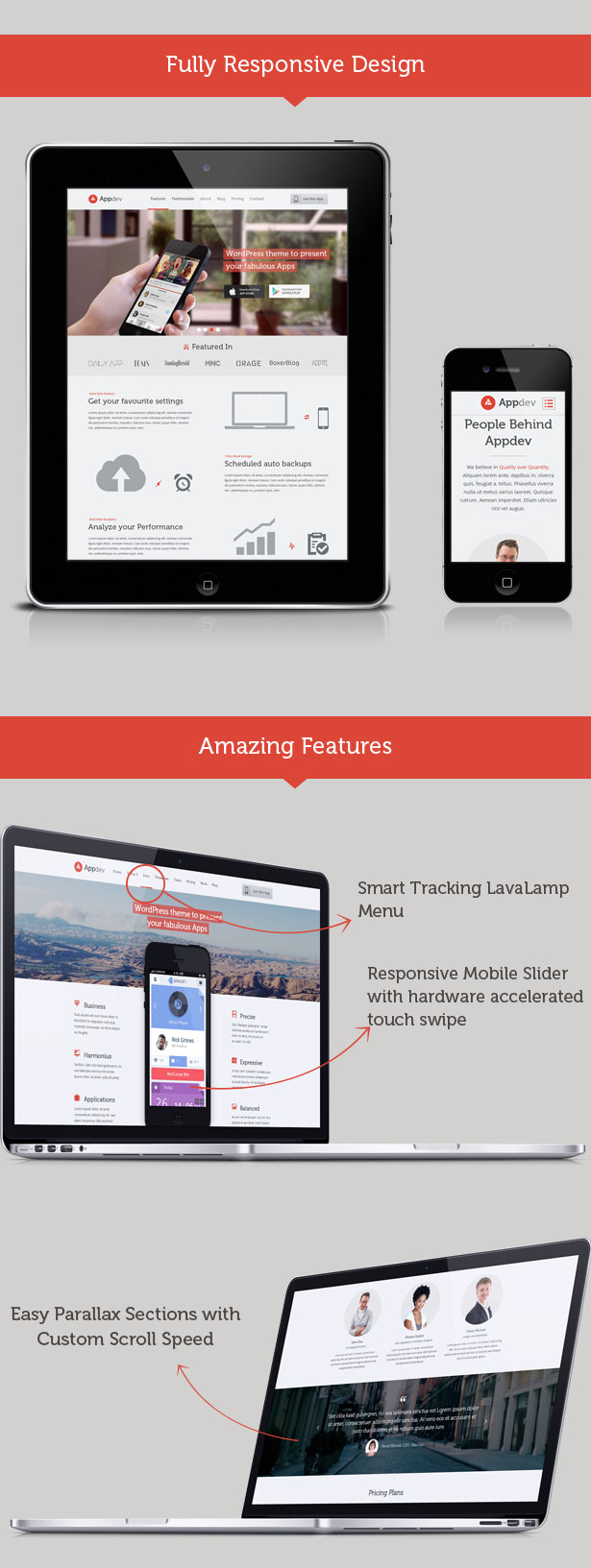 appdev dashboard2 - Appdev - Mobile App Showcase WordPress Theme