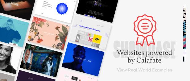 banner website showcase calafate - Calafate - Portfolio & WooCommerce Creative WordPress Theme