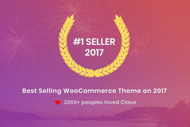 best seller - Claue - Clean, Minimal Elementor WooCommerce Theme