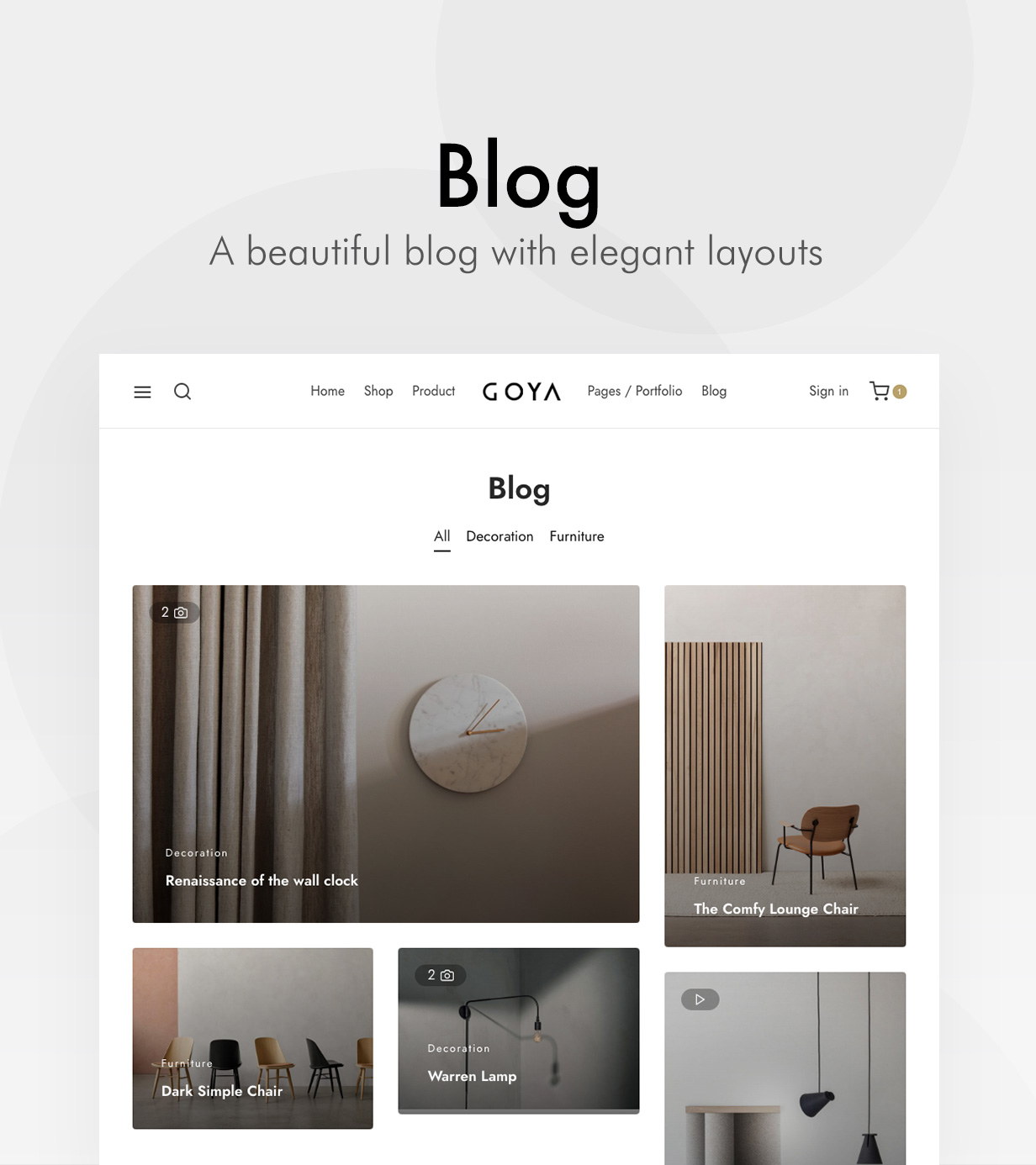 blog - Goya - Modern WooCommerce Theme