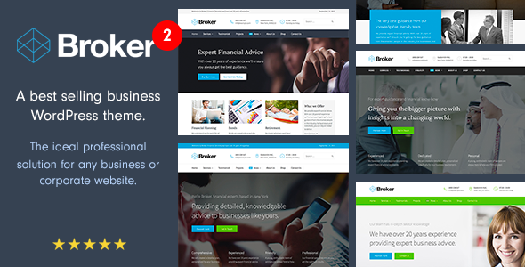 broker card.  large preview - Broker - Business and Finance WordPress Theme