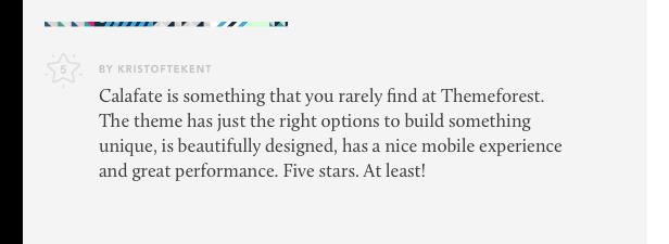 calafate theme review 01 - Calafate - Portfolio & WooCommerce Creative WordPress Theme