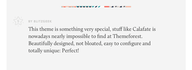 calafate theme review 04 - Calafate - Portfolio & WooCommerce Creative WordPress Theme