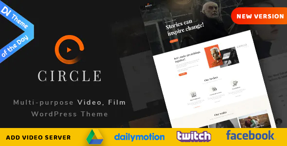 circle preview v2.  large preview - Circle - Filmmakers & Movie Studios WordPress theme